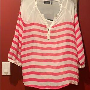 Stripe shirt blouse